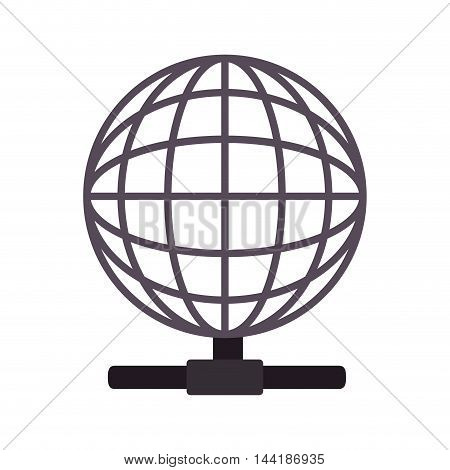 global earth host technology connection corporation globe symbol vector illustration