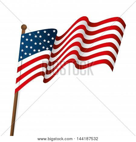usa united states of america flag waving patriot symbol vector illustration