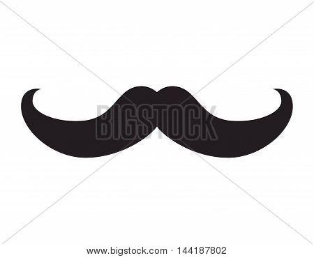 retro mustache hipster fashion style gentleman vector illustration