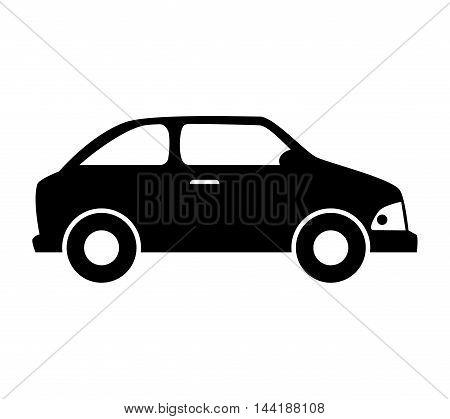 car vehicle transportation automobile side view vector illustration