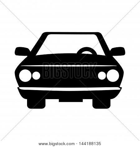 car vehicle transportation automobile front view vector illustration