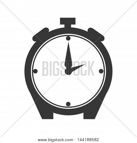 alarm clock watch time technology object silhouette vector illustration