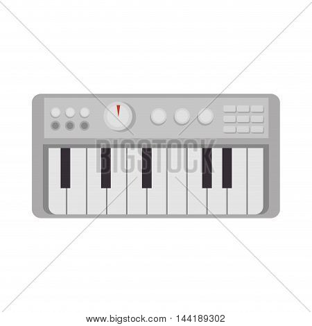 music instrument keyboard technology device vector illustration