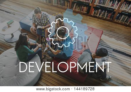 Development Business Action Analysis Concept