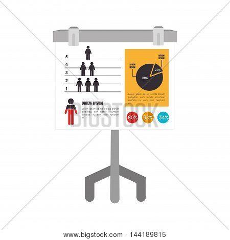pie chart analysis presenation board vector illustration