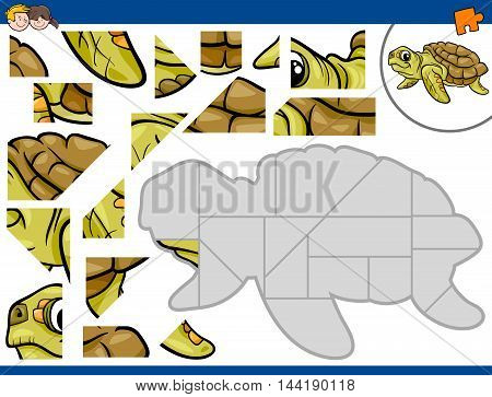 Jigsaw Puzzle With Turtle
