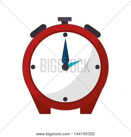 alarm clock watch time technology object vector illustration