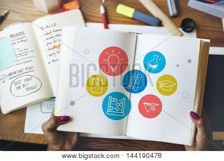 Insight Intelligence Studying Wisdom Graphic Concept