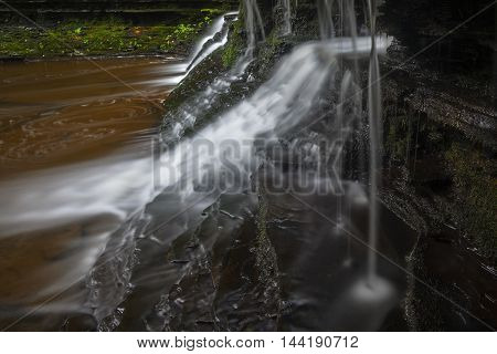Side view of small cascade at Wolf Creek