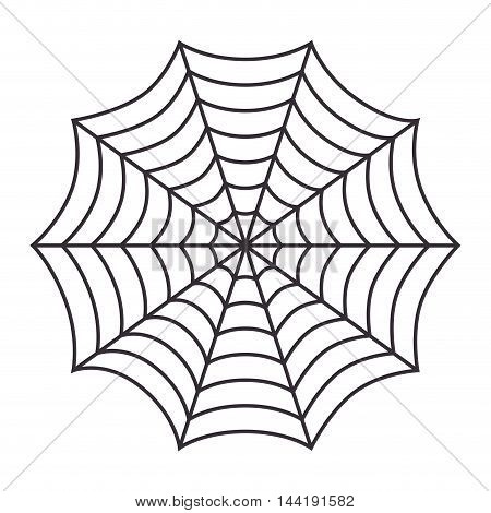 cobweb arachnid spider web halloween season vector illustration