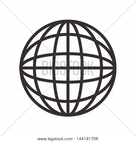 global icon globe connection network worldwide map corporation vector illustration