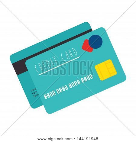 credit chip card money and finance payment vector illustration