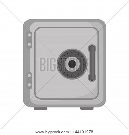 security safe box lock deposit element vector illustration
