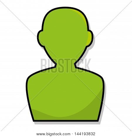 green avatar male user person face profile vector illustration