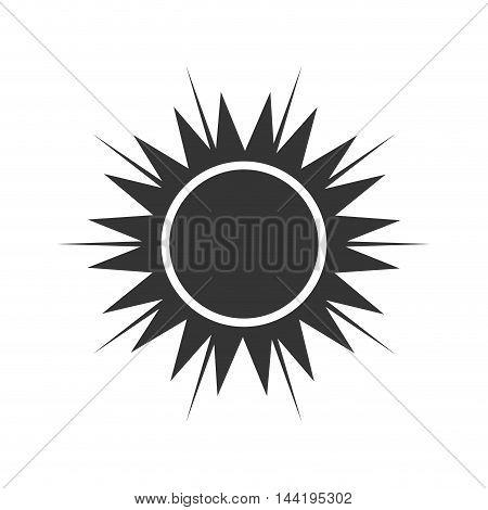 sun sunlight sunny hot natural sign heat ray vector illustration