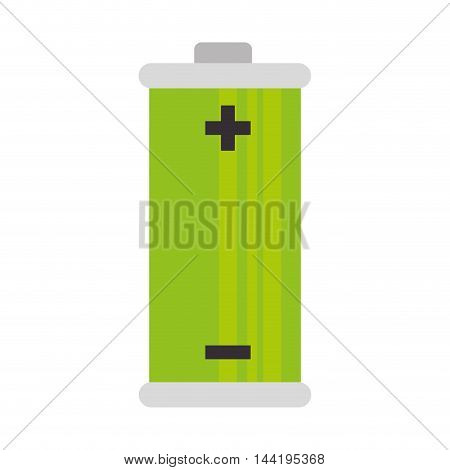 battery complete charge power electricity electricity vector illustration