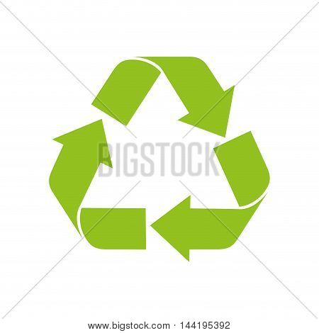recycling symbol green ecology enviromental arrow nature vector illustration