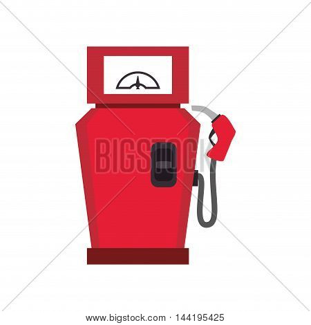 pump gas station service nozzle equipment vector illustration