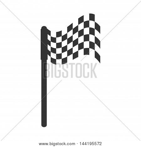 winner flag sport games checkered element vector illustration
