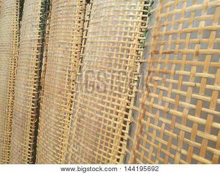 Close up of Vietnamese rice cake for wrap and roll, being dried before use at Tho Ha ancient village.