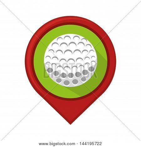 location pin ubication golf ball vehicle sport hobby vector illustration