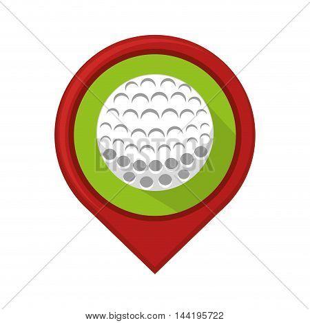 location pin ubication golf ball vehicle sport hobby vector illustration