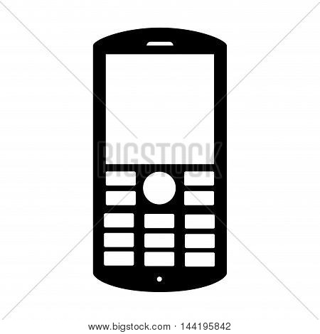 cellphone screen mobile keyboard phone  technology buttons display vector illustration