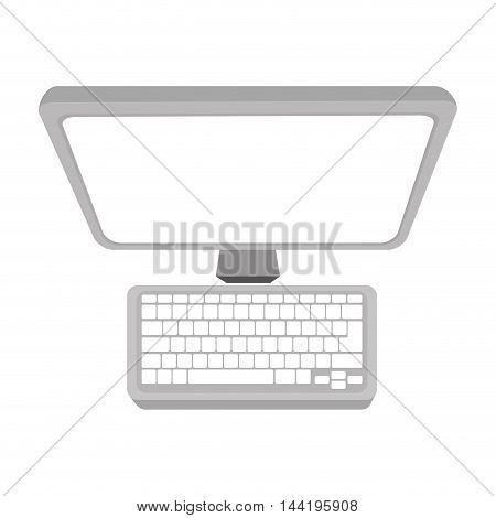 monitor screen computer pc technology and electronic device vector illustration