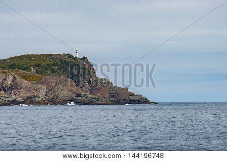 The Bay Bulls lighthouse on Newfoundland's rocky coast.