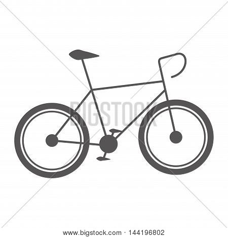 bicycle bike sport ride vehicle transport silhouette vector illustration