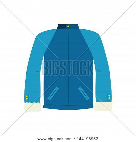 jacket blue winter sport and fashion snow wear vector illustration