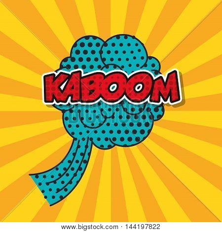 explosion pop art style vector illustration design