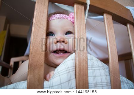 Cute Funny Young Childl In The Room