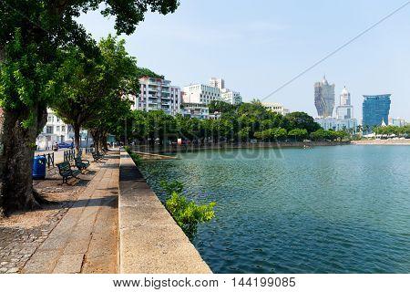 Lakeside of Macao city