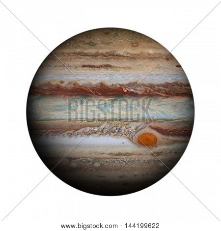 Solar System - Jupiter. Isolated Planet On White Background.