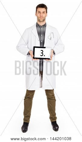 Doctor Holding Tablet - Number 3