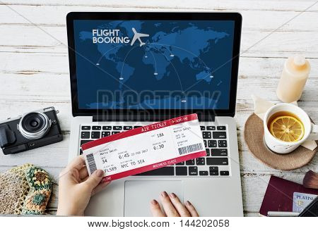 Flight Booking Reservation Travel Destination Concept