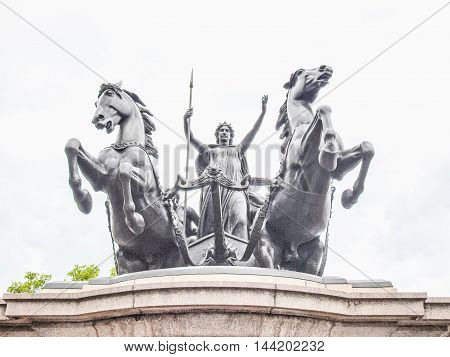 Boadicea Monument, London Hdr