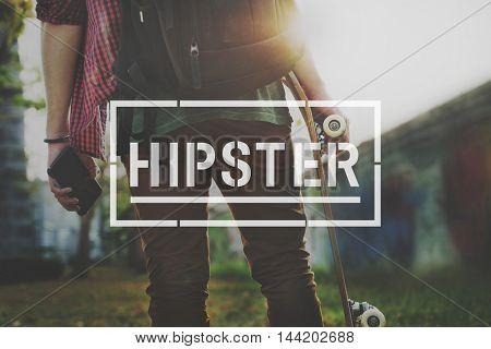 Hipster Stylish Modern Fashion Concept