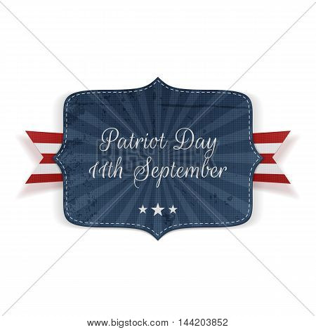 Patriot Day 11th September Banner with Ribbon