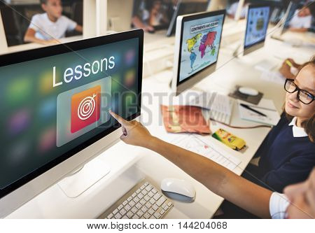 Academic E-Learning Education Online Application Concept
