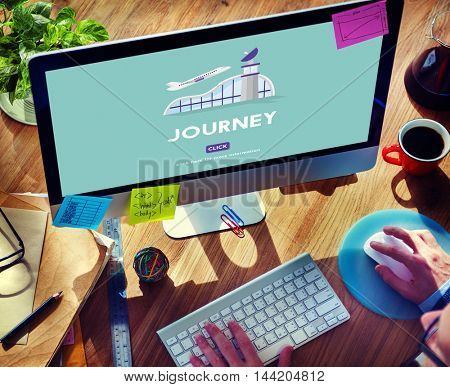 Journey Business Trip Flights Travel Information Concept