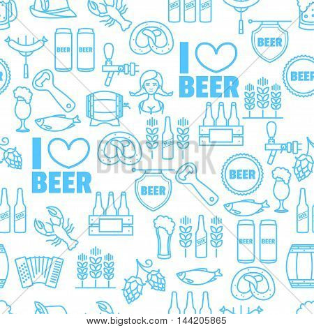 Vector seamless background of Oktoberfest for your design
