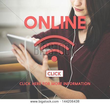 Online Wireless Internet Networking Concept