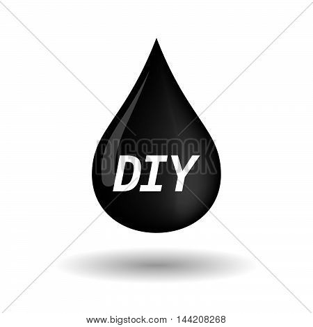 Isolated Oil Drop Icon With    The Text Diy