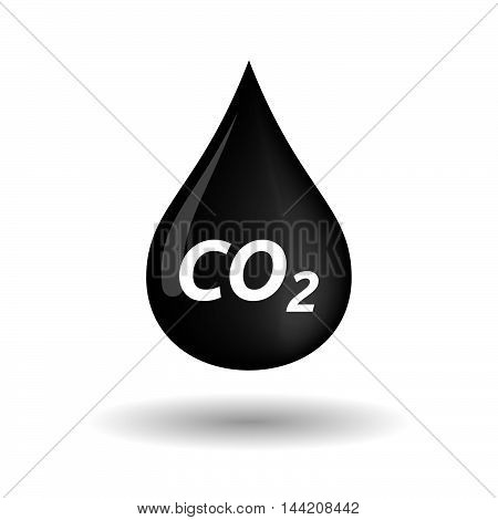 Isolated Oil Drop Icon With    The Text Co2