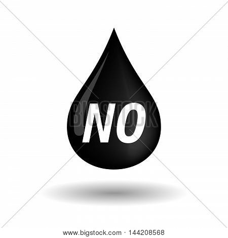 Isolated Oil Drop Icon With    The Text No