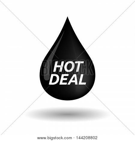 Isolated Oil Drop Icon With    The Text Hot Deal