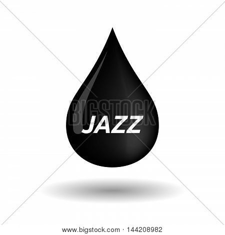 Isolated Oil Drop Icon With    The Text Jazz
