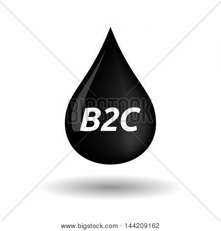Isolated Oil Drop Icon With    The Text B2C